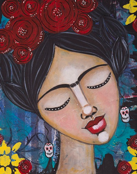 """""""Frida with Red Roses"""""""